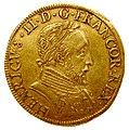 Charles IX au nom de Henri II double henri d'or 1561 avers.jpg