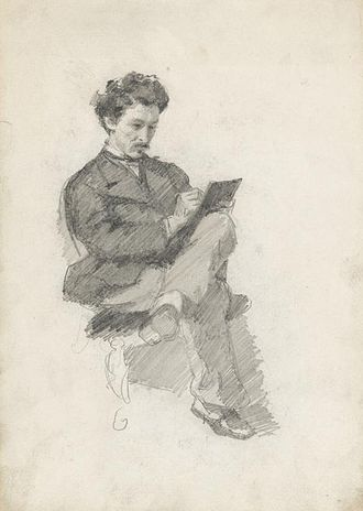 Charles Keene (artist) - Drawing of Keene, by James McNeill Whistler.