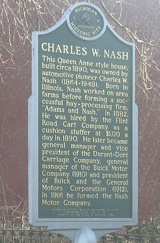 Charles Williams Nash - Image: Charles Nash Historical Marker