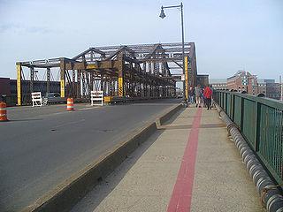 Charlestown Bridge bridge in Boston, Massachusetts, USA