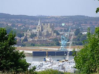 History of Rochester, Kent - Rochester from across the river