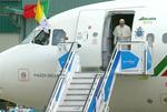Chegada do Papa Francisco a Portugal, Base Aérea de Monte Real (12 de Maio de 2017).png
