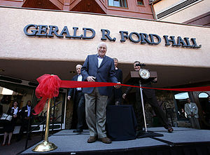 AEI World Forum - Vice President Cheney opens Gerald R. Ford Hall at the World Forum site in 2007.