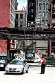 """Chicago (ILL) Downtown, S. Wabash Ave, """" Park 1, the valet & the customer """" 1 (4826340062).jpg"""