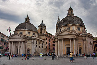 Tridente, Rome street in Rome, Italy