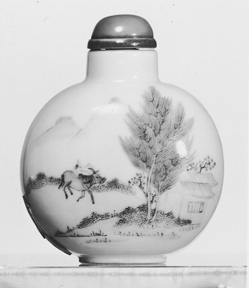 Chinese - Snuff Bottle with Ox Herder Returning Home - Walters 4972