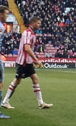 Chris Porter playing for Sheffield United