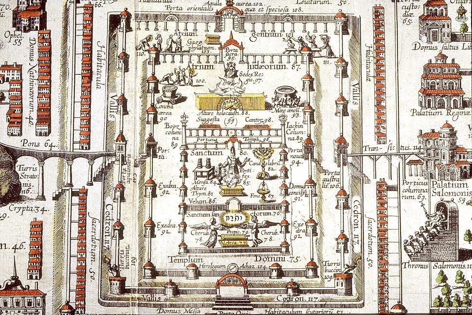 Christian-van-adrichom JERVSALEM-et-suburbia-eius detail-solomon-temple 1-1497x1000