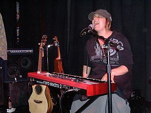 Christine Fellows - Image: Christine Fellows Playing Keyboard