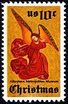 Christmas - Perussis Altarpiece Angel 10c 1974 issue U.S. stamp.jpg