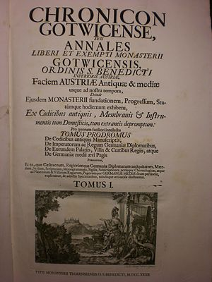 Johann Franz Bessel - Chronicon Gotwicense (1732), title page