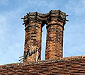 Church of Ss Mary & Lawrence - churchyard east cottage chimneys 01.JPG