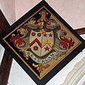 Church of St John, Finchingfield Essex England - North chapel hatchment 1.jpg