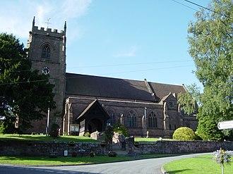 Cheswardine - Image: Church of St Swithun, Cheswardine geograph.org.uk 23144