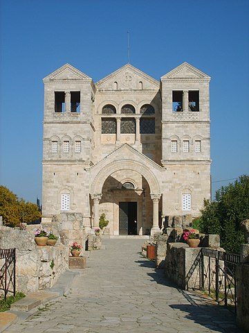 https://upload.wikimedia.org/wikipedia/commons/thumb/2/25/Church_of_Transfiguration_Mount_Tabor200704.JPG/360px-Church_of_Transfiguration_Mount_Tabor200704.JPG