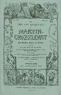 <i>Martin Chuzzlewit</i> monthly serial; novel by Charles Dickens; published 1843–1844