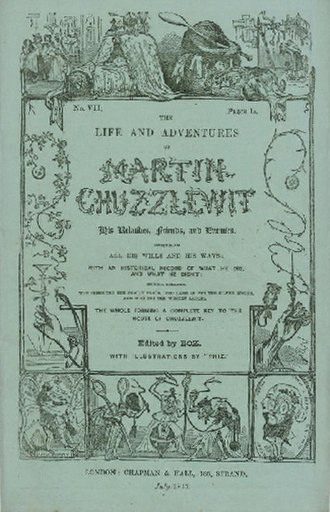 Martin Chuzzlewit - Cover of serial edition seventh instalment, July 1843