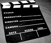 """An icon of a clapperboard"""
