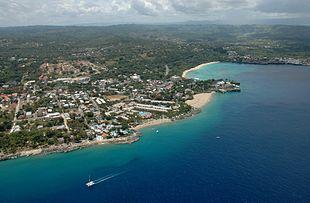 Aerial view of Sosúa