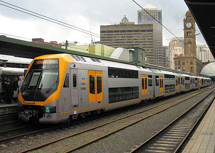 Central station is the hub of the Sydney rail network Cityrail-millennium-M32-ext.jpg