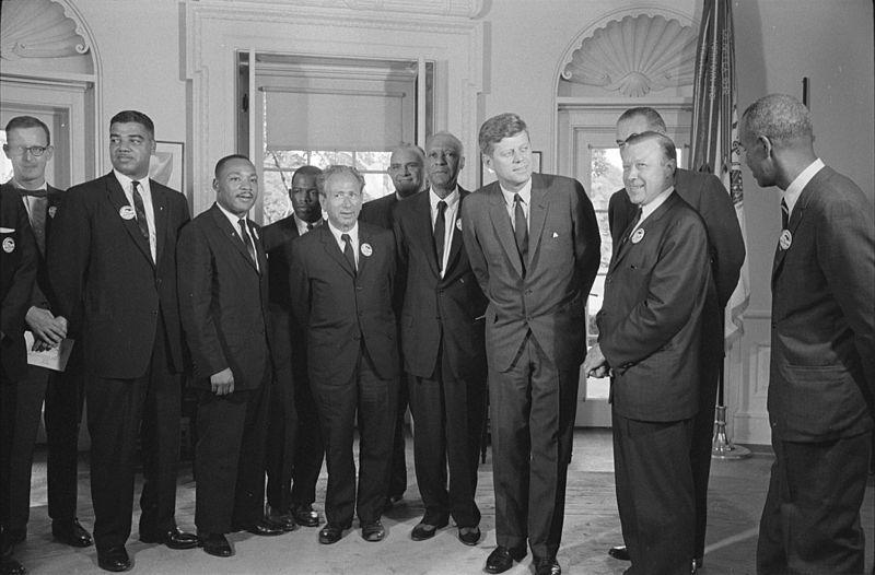 File:Civil rights leaders meet with President John F. Kennedy1.jpg