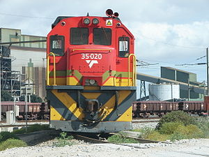 South African Class 35-000 - No. 35-020 in Transnet Freight Rail livery, Saldanha, Western Cape, 10 February 2013