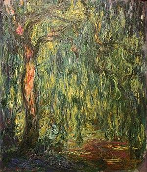 Salix babylonica - Saule pleureur, by Claude Monet (1918).