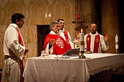 Clergy at Church of All Nations in Jerusalem -- 5 February 2011.jpg