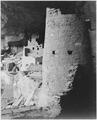 "Cliff Palace, Mesa Verde National Park,"" Colorado. (vertical orientation), 1933 - 1942 - NARA - 519942.tif"