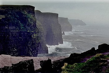 English: Cliffs of Moher - Inclement weather a...