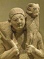 Closeup of Limestone ram-bearer Cypriot Archaic 6th century BCE (16179329975).jpg