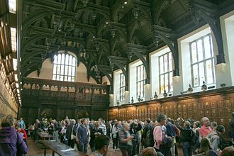 Hammerbeam roof - Interior of the Middle Temple hall and its double-hammerbeam roof