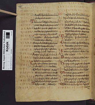 Codex Guelferbytanus A - Image: Codex Guelferbytanus B 00474