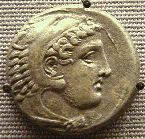 Perdiccas III of Macedon - Coin of Perdiccas III, with figure of Herakles.