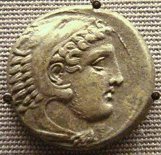 Perdiccas III of Macedon - Coin of Perdiccas III, with figure of Herakles.