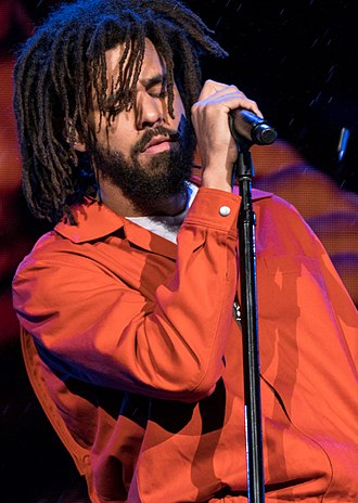 J. Cole - Cole performing in 2017