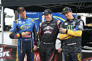 Travis Pastrana - Pastrana, Colin McRae and Ken Block at X Games XIII.