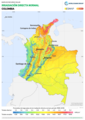 Colombia DNI Solar-resource-map lang-ES GlobalSolarAtlas World-Bank-Esmap-Solargis.png