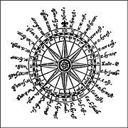 Navigational sailor's compass rose.