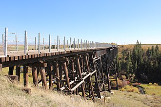 National Register of Historic Places listings in Fremont County, Idaho - Image: Conant Creek Bridge