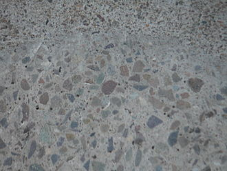 Composite material - Concrete is a mixture of cement and aggregate, giving a robust, strong material that is very widely used.