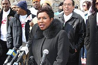 Yvette Clarke - Clarke speaking at an anti-violence march in Brooklyn