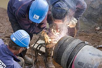 Gasum - Image: Constructing natural gas pipe, Finland