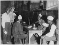 Convalescent Moroccan and Chinese workmen at mess in hospital at Dinan, France. - NARA - 533596.tif