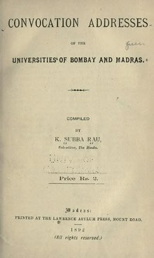 Convocation Addresses of the Universities of Bombay and Madras.djvu