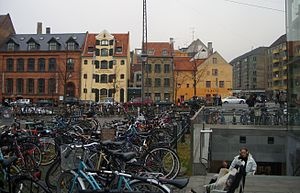 Copenhagen bicycles at Christianshavn Metro Station