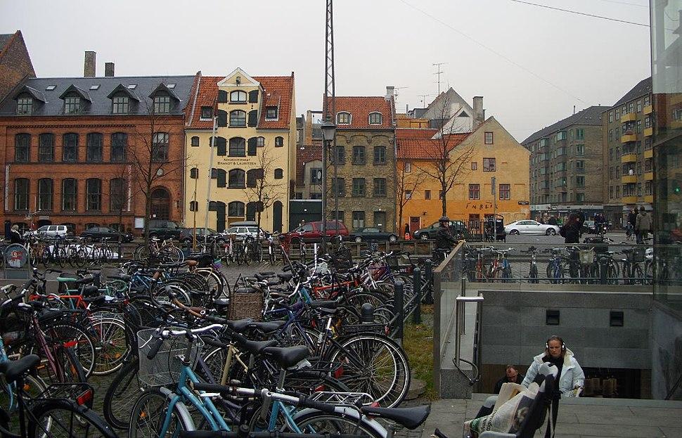 Copenhagen bicycles at Christianshavn Metro Station