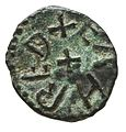 Copper alloy styca of King Aethelred II of Northumbria (YORYM 2000 3512) reverse.jpg