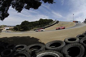 "Mazda Raceway Laguna Seca - The ""Corkscrew"" at Turn 8, with gradient up to 16%"