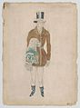 Costume Design for a Valet, likely for the Ballet 'Les Papillons', premiered at the Théâtre de Monte-Carlo, 1914 MET DP858624.jpg